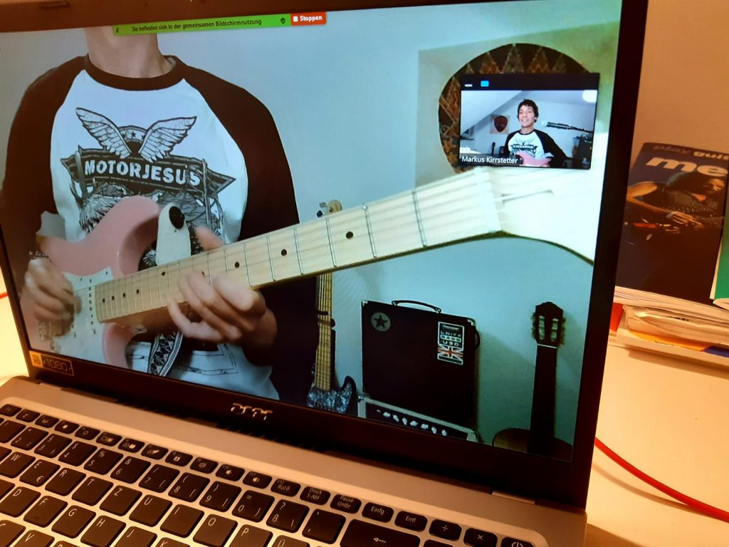 Online Gitarrenunterricht